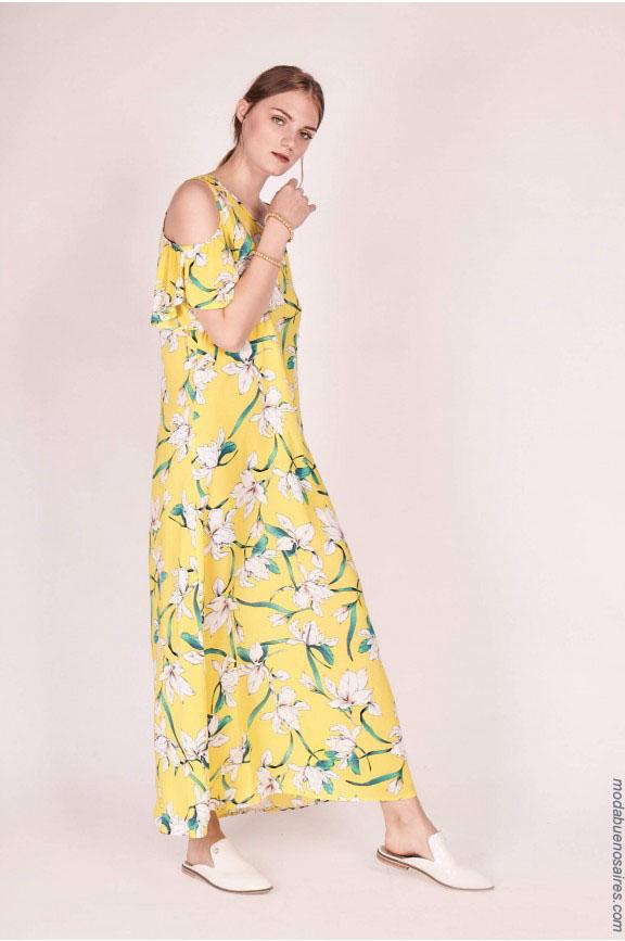 Vestido estampado largo verano 2018: Moda 2018 ropa de mujer.