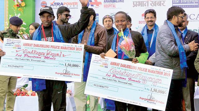 Kenya runners bag Amway Darjeeling Police Marathon crown