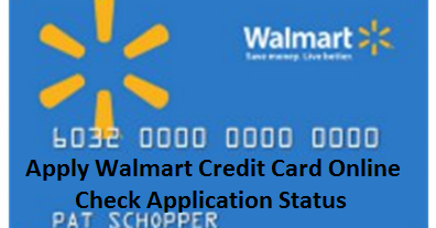 can i check the status of my walmart credit card application online