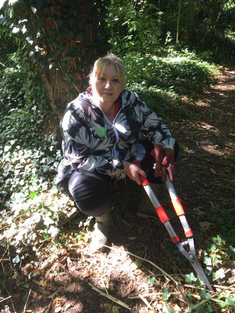Julie Howell holding loppers
