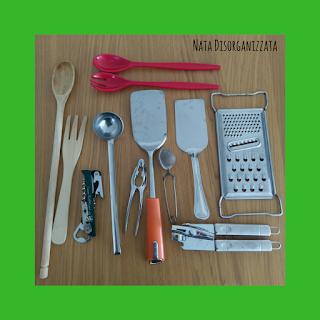 decluttering degli utensili in cucina