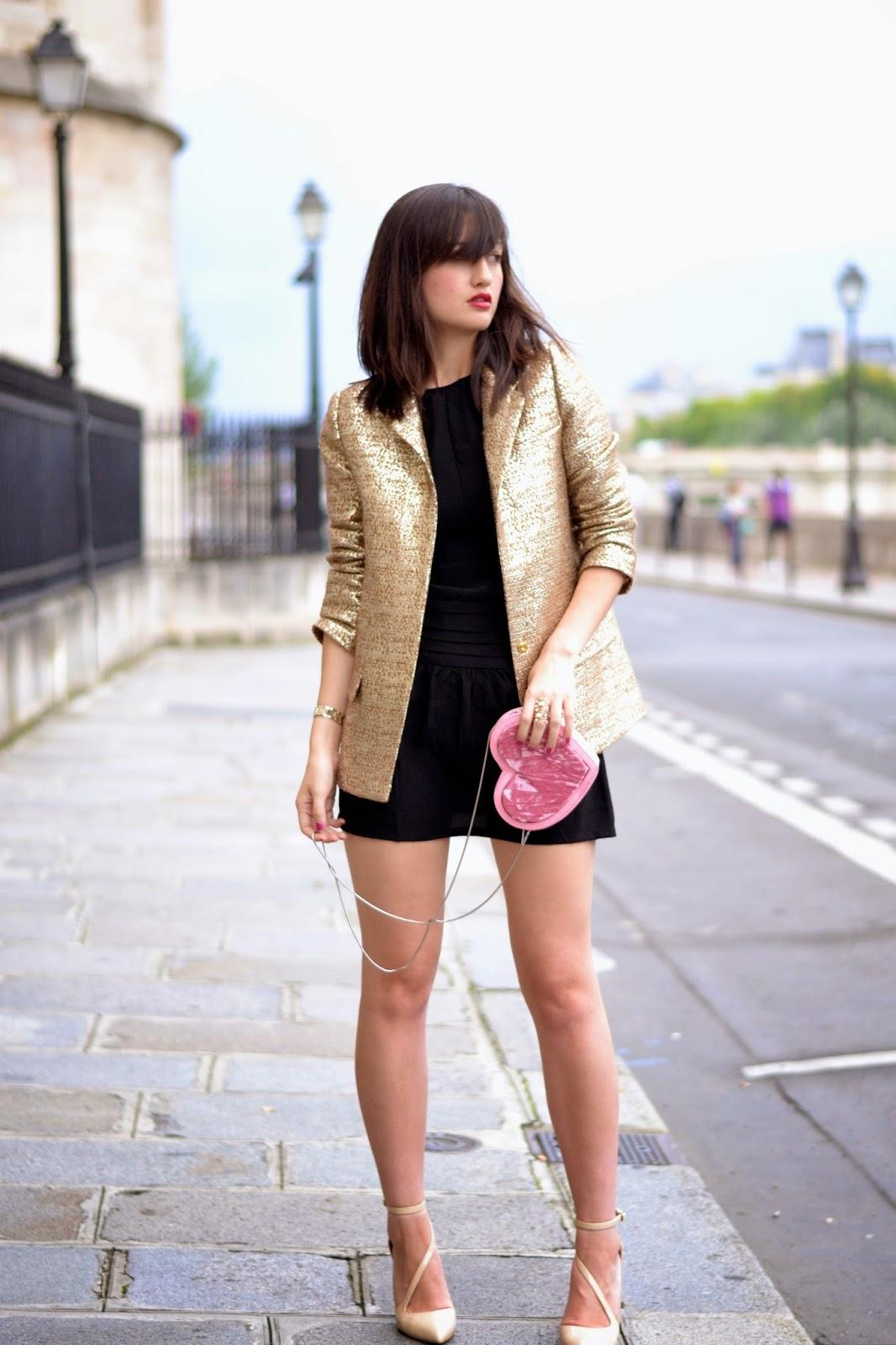 金色西装外套