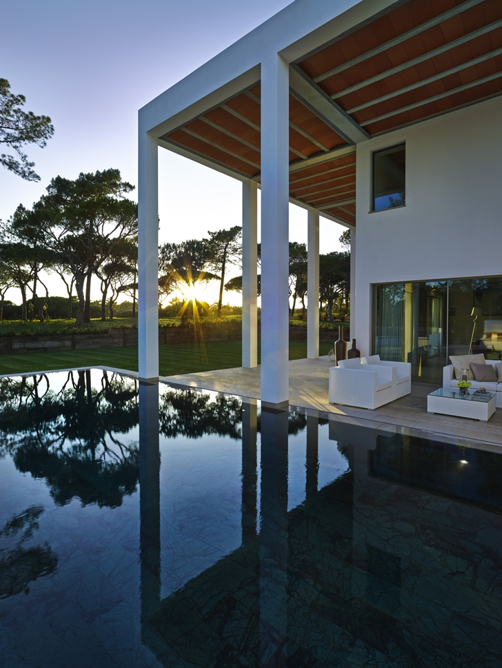 Swimming pool in Simple modern home in Portugal