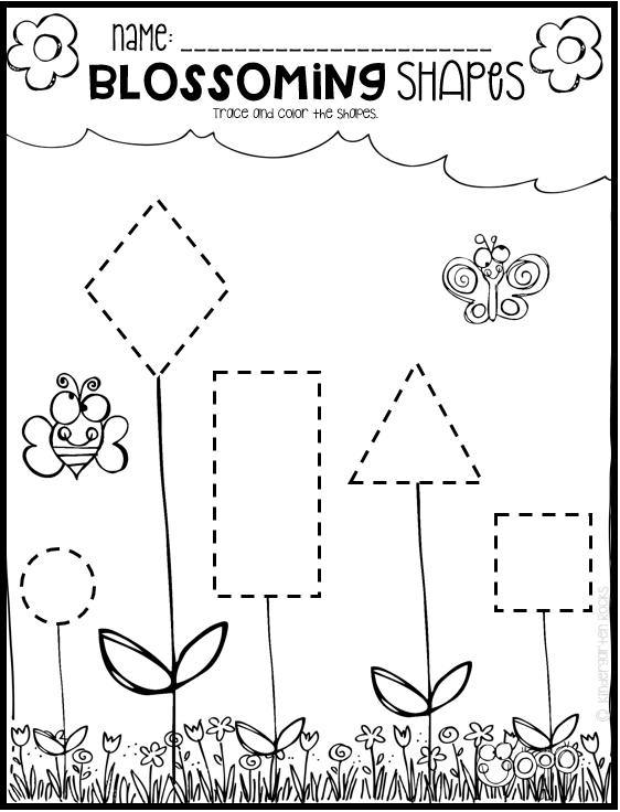 spring math and literacy printables and worksheets for pre k and kindergarten kindergarten. Black Bedroom Furniture Sets. Home Design Ideas