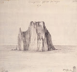 View of the Island of Strombolino byh Jean-Pierre-Laurent Houel - Landscape Drawings from Hermitage Museum