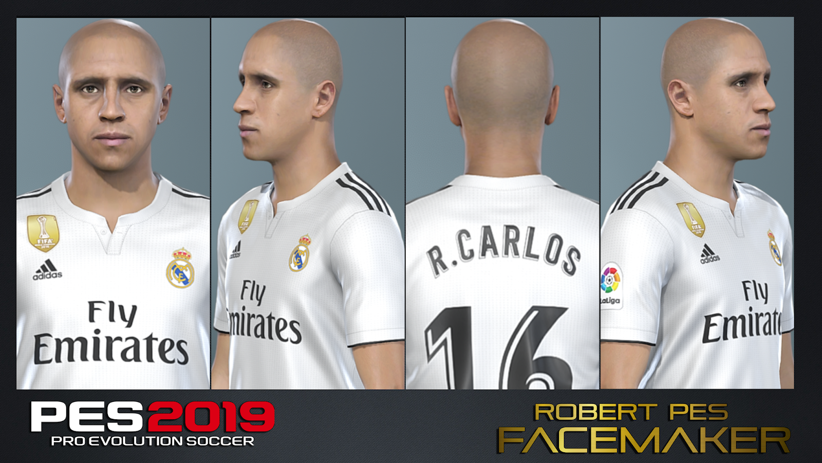 FACE Roberto Carlos for PES 2019 By RobertPes Facemaker