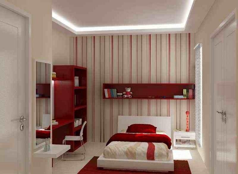 desain model plafon gypsum kamar tidur yang unik