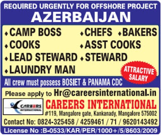 Offshore Catering jobs in Azerbaijan