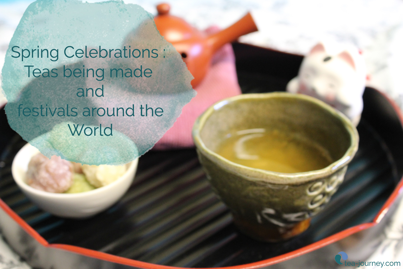 Spring Celebrations: Teas being made and festivals around the world | Every tea growing region is beginning to process their specialties. Japan and China are making green teas, Taiwan is making Oolongs and India is making Darjeeling. Different teas are processed throughout the seasons. Learn what ones are coming so you can get your favorite tea this Spring.