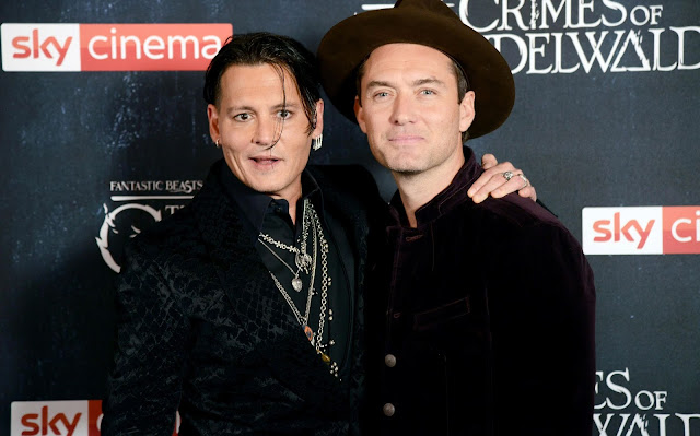 Fotos da première londrina de 'Animais Fantásticos: Os Crimes de Grindelwald' | Johnny Depp e Jude Law | Ordem da Fênix Brasileira