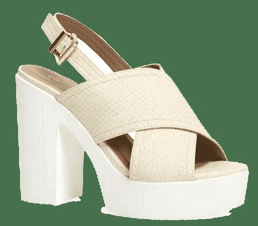 Sandalias cruzadas en color claro para mujer de Primark