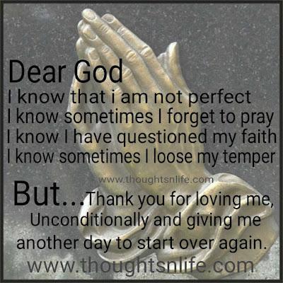 dear god prayer