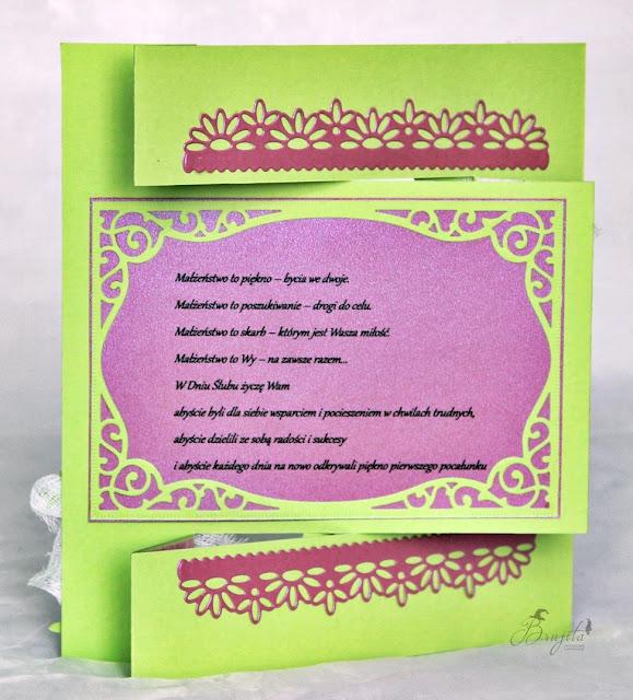 ślubny exploding box, na ślub, prezent, co dać od świadków na wesele, życzenia ślubne, Magiczna Kartka Magia Ombre, I-Kropka inspiracje, pastelove love