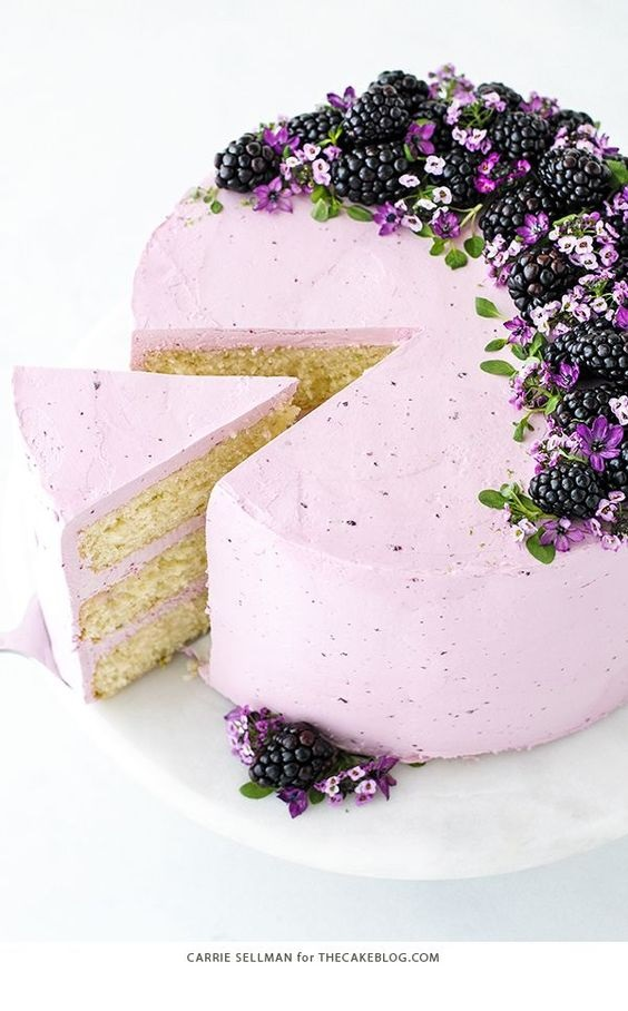 Blackberry Lime Cake