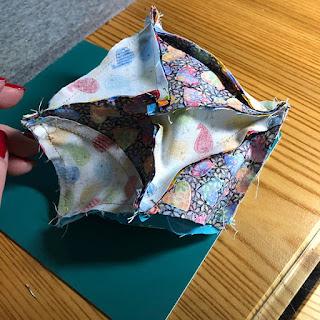 biscornu made from quilting fabric -  finish