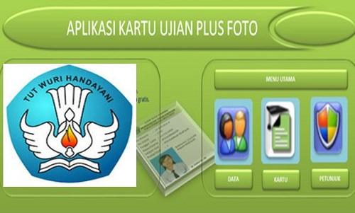 Aplikasi Pembuatan Kartu Ujian Sekolah SD SMP SMA SMK Terbaru