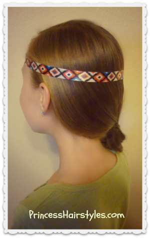 Astrid's headband and braid hairstyle tutorial