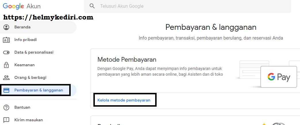 Cara menghapus profil google,menghapus rekening bank dari akun