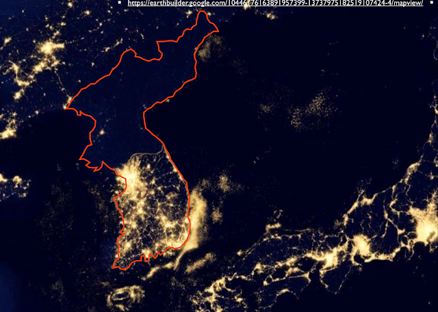 Korea light map - EUA vs Coréia do Norte - um debate que era previsível !!!!
