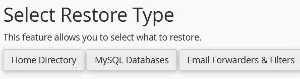 restore WordPress backup files and databases saved with cpanel