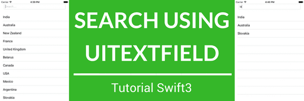 Integrate search functionality in iOS app using Swift3