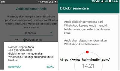Penyebab nomor whatsapp diblokir dan cara mengatasinya