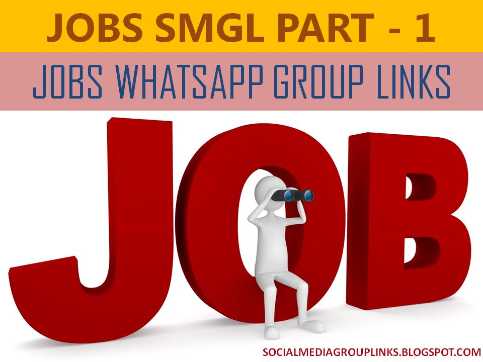 100+ Jobs WhatsApp Group Links - SMGL