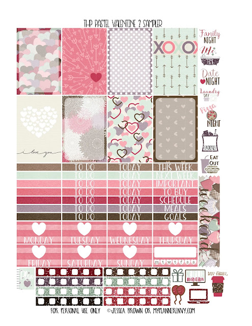 Free Printable Pastel Valentine 2 Sampler for the Classic Happy Planner from myplannerenvy.com