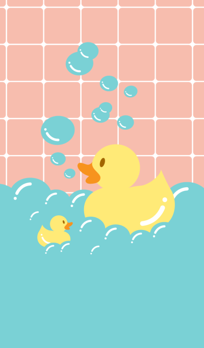 Rubber Duck likes to bathing