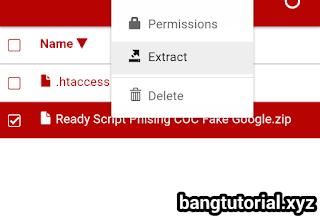 Ekstrak Zip Script Phising Menjadi Folder 000webhost
