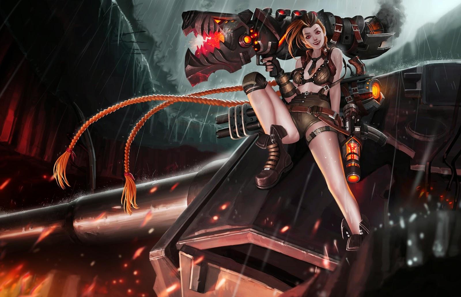 World Of Warcraft Wallpapers Hd Jinx League Of Legends Wallpaper Jinx Desktop Wallpaper