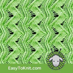 #LaceKnitting Zig Zag stitch. FREE Knitting Pattern! Easy and quick knit! #easytoknit #knitting