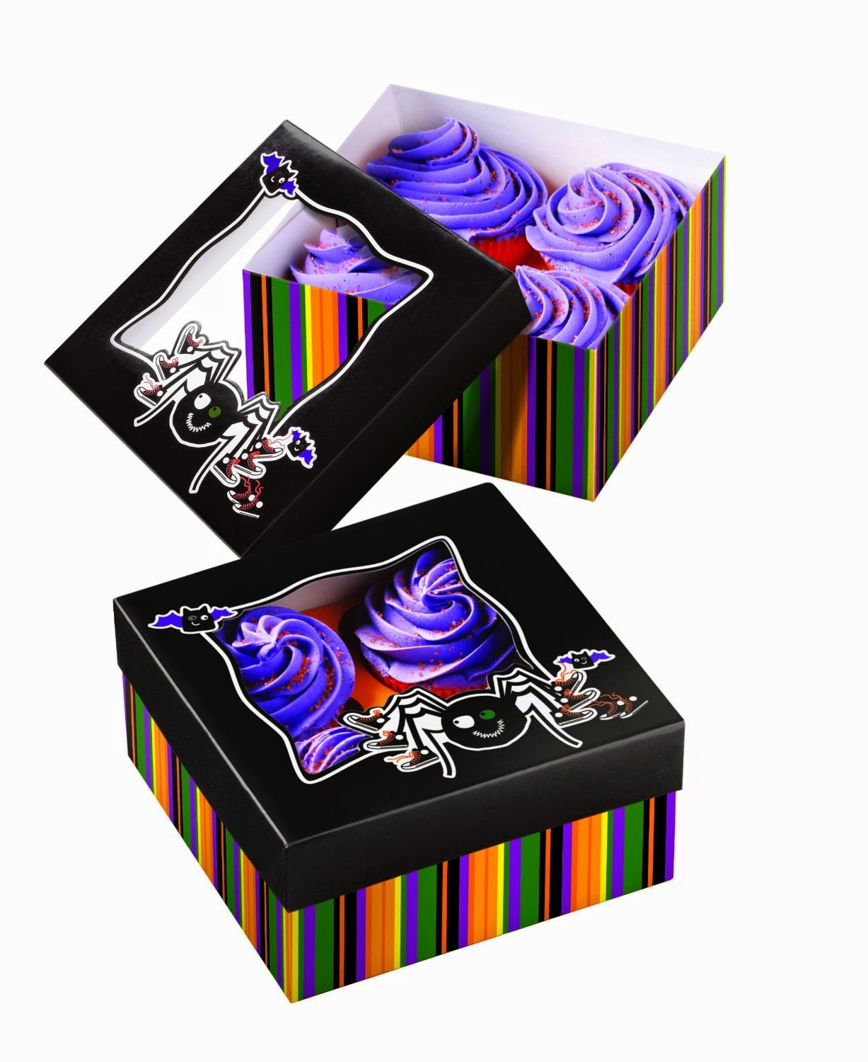 Halloween cupcakes gift boxes