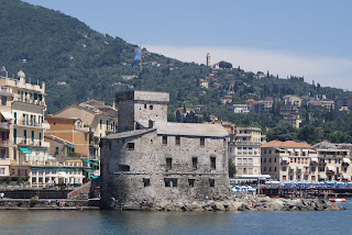 Rapallo's Castello sul Mare was built in 1551 to deter pirates from attacking the Ligurian coastal town
