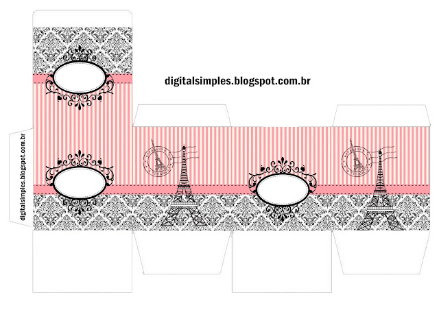 Beautiful Paris Free Printable Cube Box.