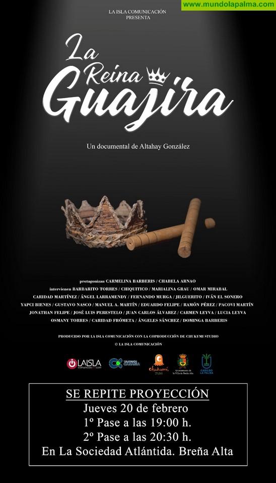 'La Reina Guajira' vuelve a Breña Alta. El documental sobre Carmelina Barberis se proyectará de nuevo el 20 de febrero