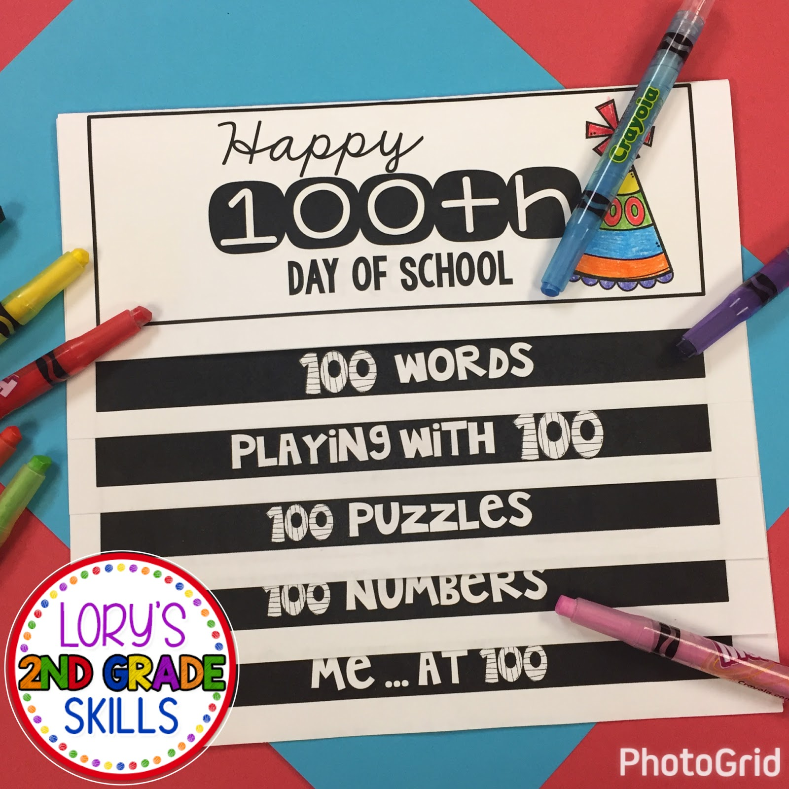 Lory S 2nd Grade Skills 100th Day Of School