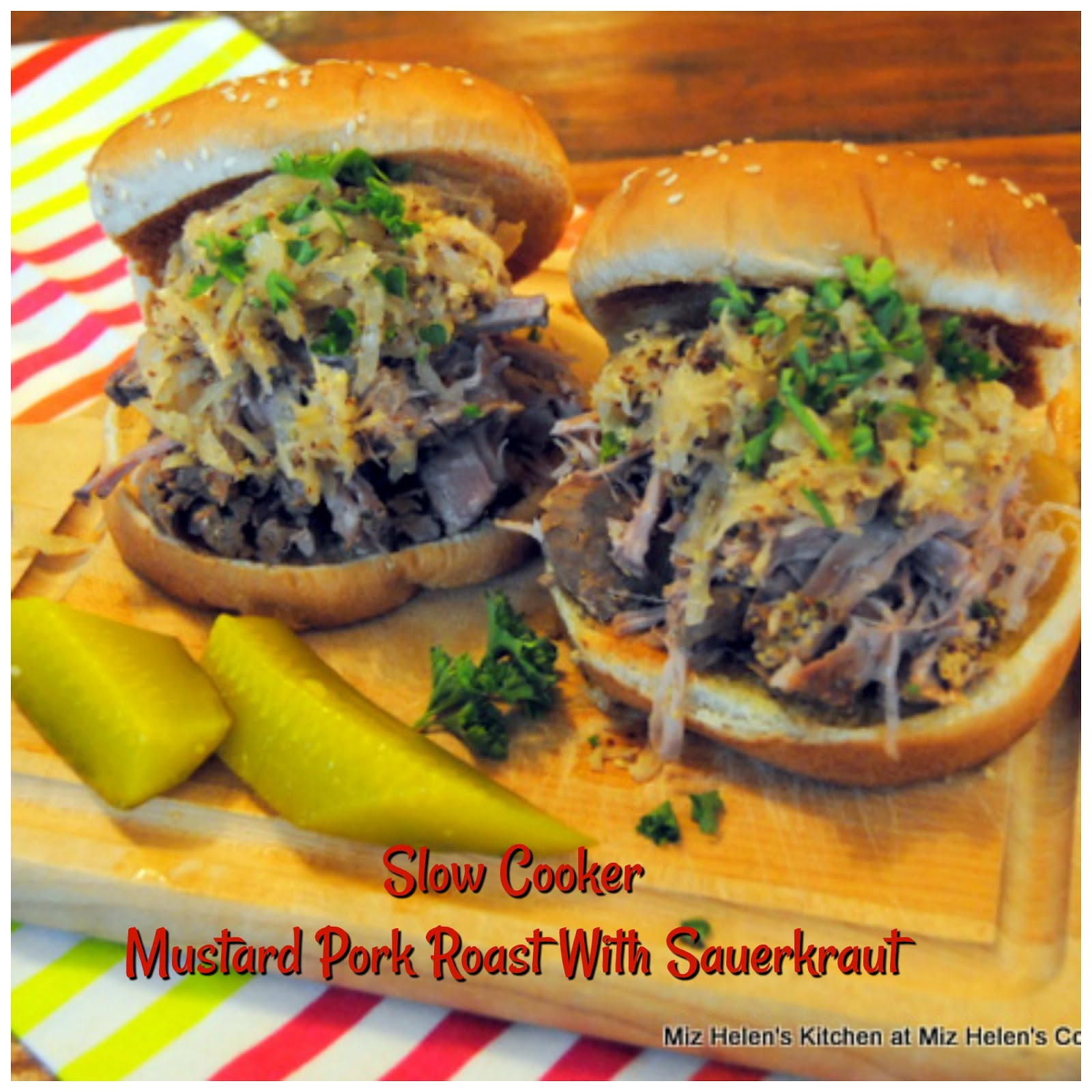 Slow Cooker Mustard Pork Roast & Sauerkraut