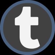 tumblr icon outline
