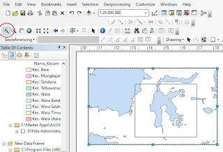 cara membuat inset peta dan aktifkan zoom in
