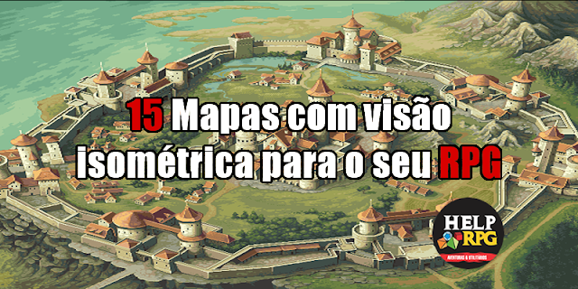 15 Mapas com visão isométrica para o seu RPG