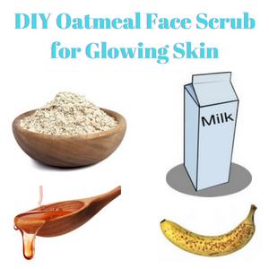 DIY Oatmeal Face Scrub for Glowing Skin