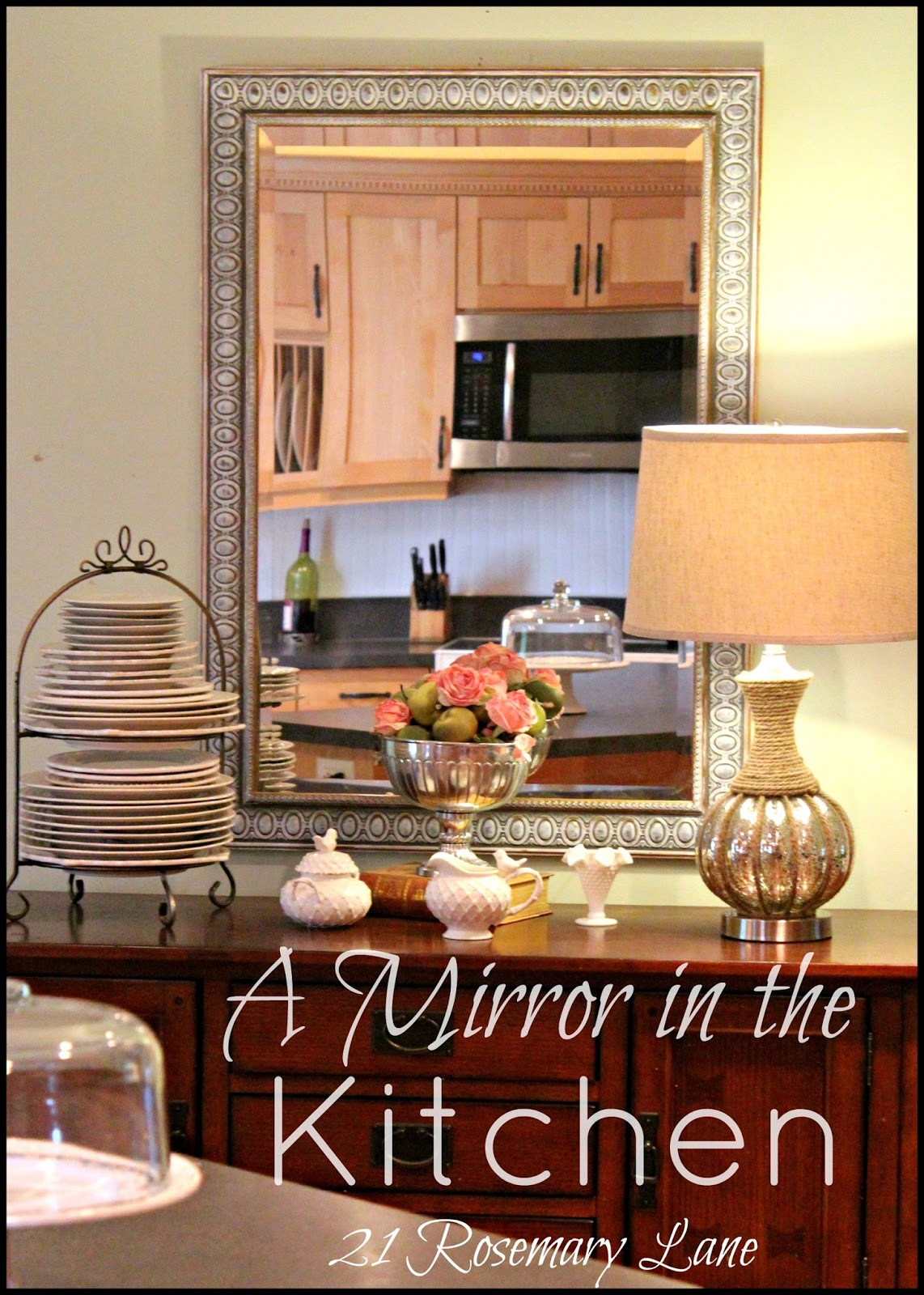21 Rosemary Lane: Hanging a Mirror in the Kitchen
