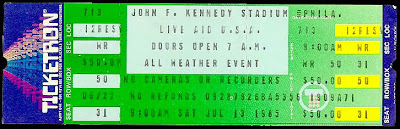 Live Aid Philly show USA... not my ticket 1985