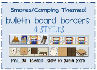 smores themed bulletin board border