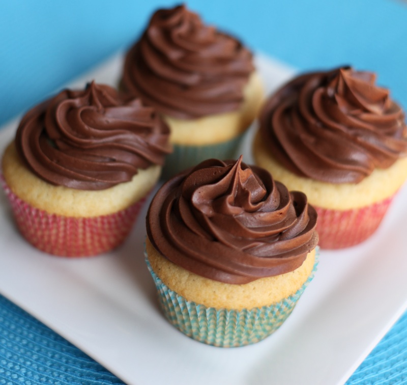 Cupcakes Cup: Vanilla Cupcake With Chocolate Frosting