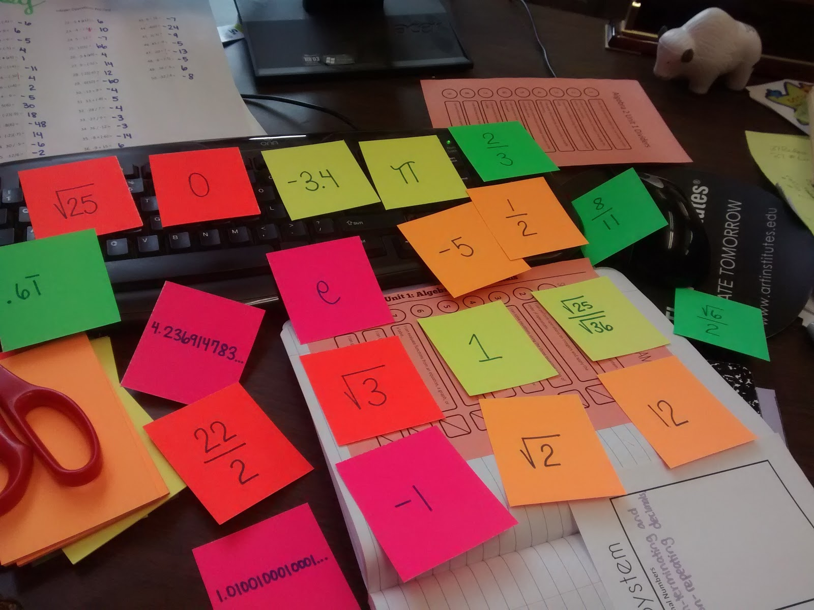 Math Love Algebra 2 Skill 1 Classifying Real Numbers