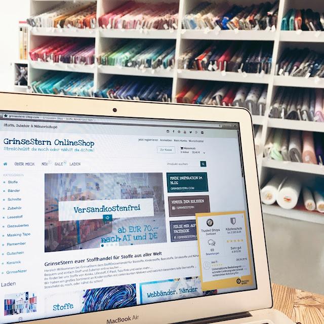 GrinseStern, Trusted Shop, Online Stoff kaufen