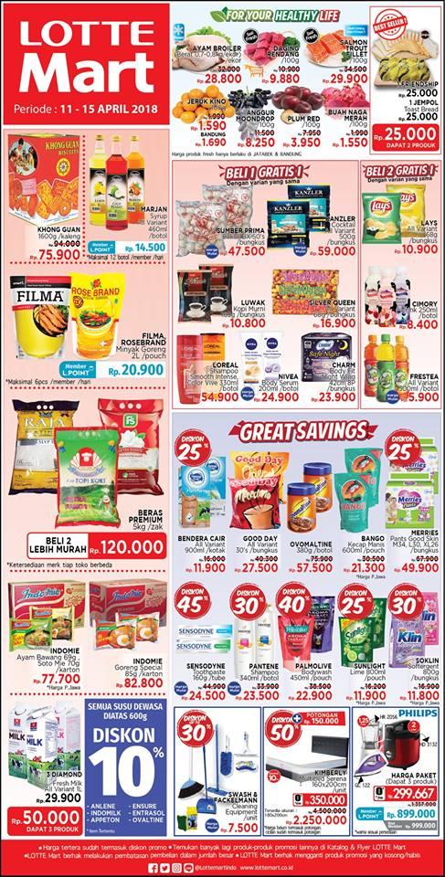 Katalog Harga Promo LOTTEMART Hypermarket Akhir Pekan 11 - 15 April 2018