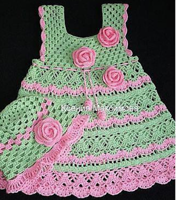 Free Crochet Pattern For Christmas Dress : simple dot dress - Free patterns ~ Crochet Free Patterns